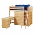 Emperor Twin High Loft Bed with Bookcase and Desk