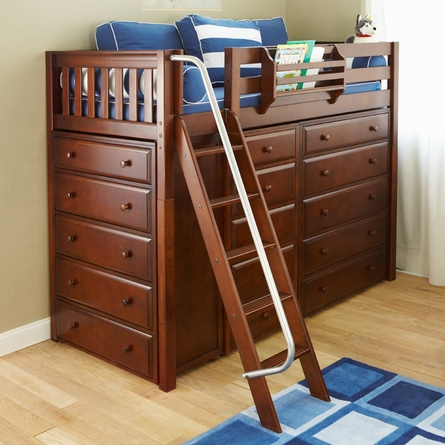 Quinn Twin High Loft Bed with Chest