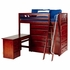 Quinn High Loft Bed with Chest and Desk