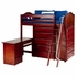 Emperor Twin High Loft Bed with Chest and Desk