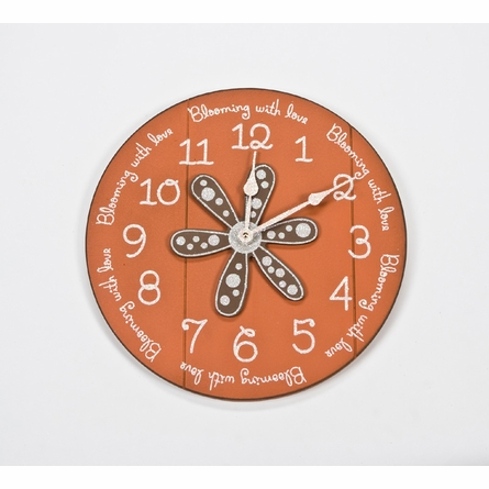 Quote Wall Clock with Daisy