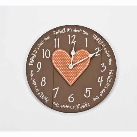 Quote Wall Clock with Heart