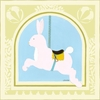 Rabbit Carousel Canvas Reproduction