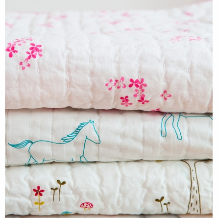 Rabbit Patch Twin Quilt
