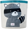 3 Sprouts Raccoon Canvas Storage Bin