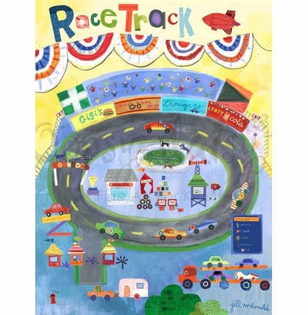 Racetrack Poster Wall Decal