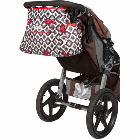 Rachel Roundabout Diaper Bag in Royal Ruby Montage