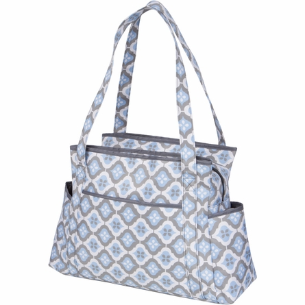 Rachel Roundabout Diaper Bag in Sky Blue Montage