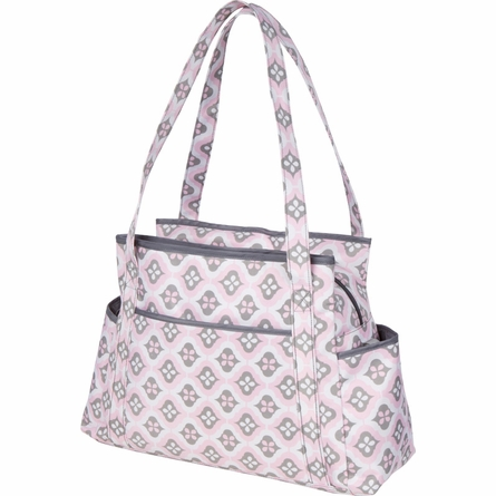 Rachel Roundabout Diaper Bag in Sweet Blush Montage