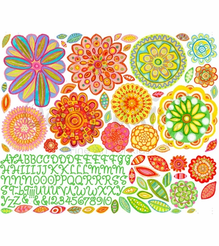 Radiant Flowers Peel & Place Wall Stickers