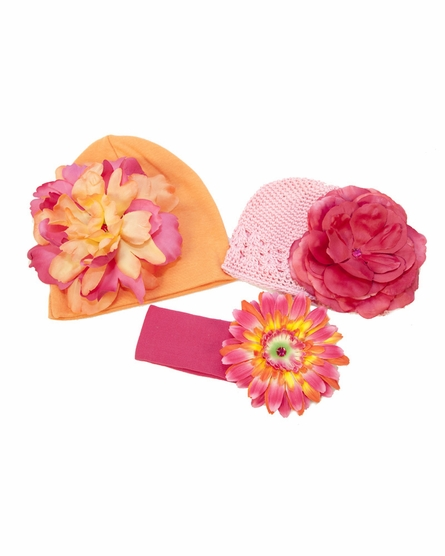 Radiant Raspberry Budding Beauty Flower Hat Bouquet