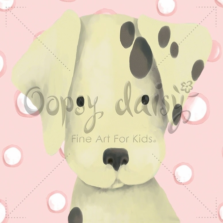 Radley the Dalmatian in Powder Pink Canvas Wall Art
