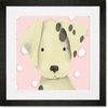 Radley the Dalmatian Pink Framed Art Print