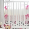 Ragamuffin in Pink Crib Bumper