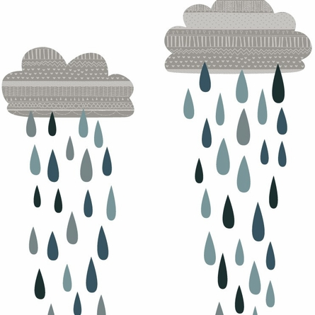 Rain Clouds Fabric Wall Decals