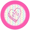 Rainbow Heart Personalized Melamine Plate
