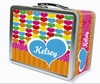 Rainbow Hearts Personalized Lunch Box