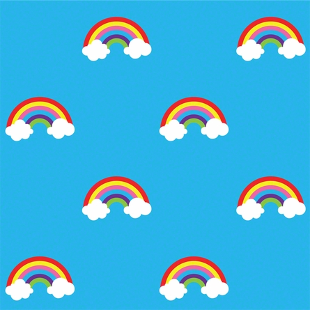 Rainbow in Blue Removable Wallpaper