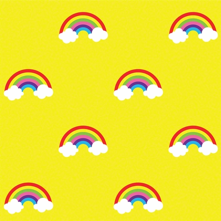 Rainbow in Yellow Removable Wallpaper