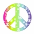 Rainbow Peace Sign Wall Sticker