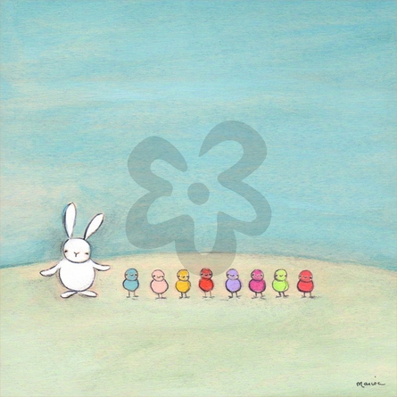 Rainbow Peeps Canvas Wall Art