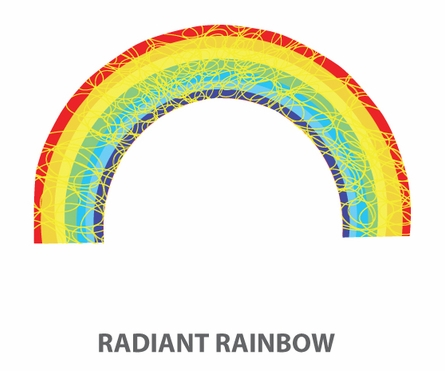 Rainbow Promise Fabric Wall Decals