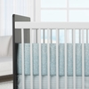 Raindrops Crib Bumper in Aqua