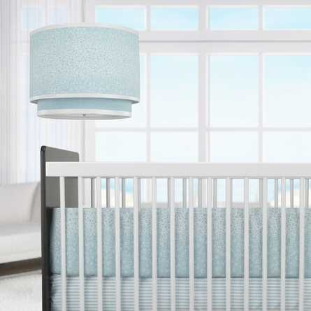 Raindrops Three-Piece Crib Set in Aqua
