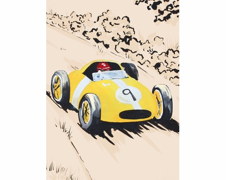 Rally Roadster II Canvas Reproduction