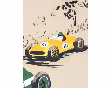 Rally Roadster III Canvas Reproduction