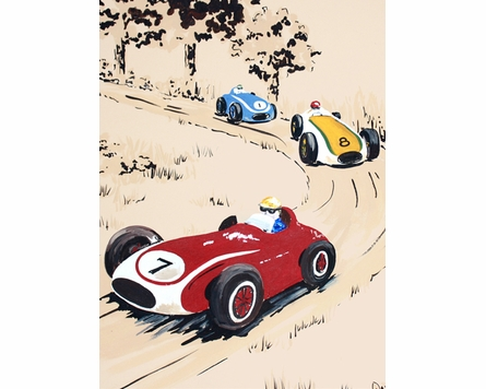 Rally Roadster IV Canvas Reproduction