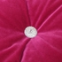 Raspberry Chic Velvet Beaded Throw Pillow