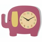 Raspberry Elephant Wall Clock