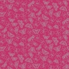 Raspberry Glitter Butterfly Wallpaper