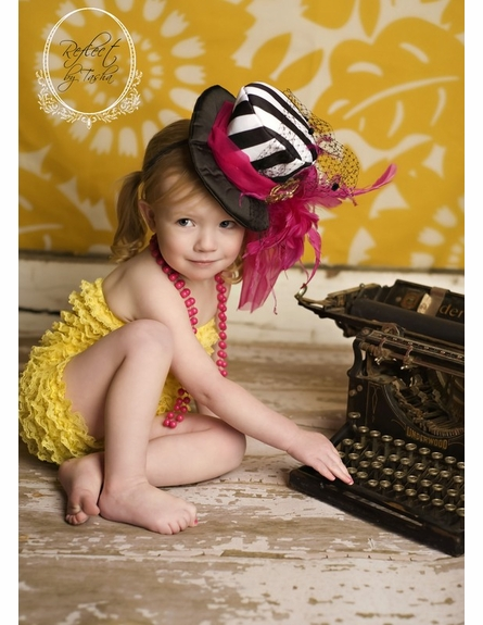 Raspberry Lemonade Top Hat Headband
