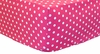 Raspberry Polka Dot Crib Sheet