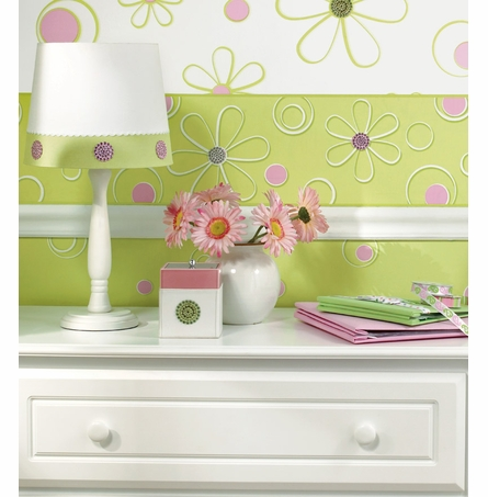 Razzle Dazzle Lime & Pink Wall Charms