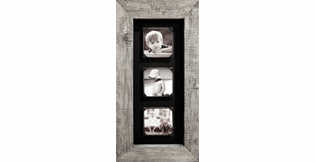 Reclaimed Wood Triple Picture Frame