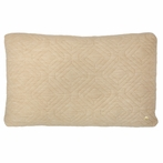 Rectangle Quilt Cushion Throw Pillow in Camel