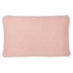 Rectangle Quilt Cushion Throw Pillow in Rose