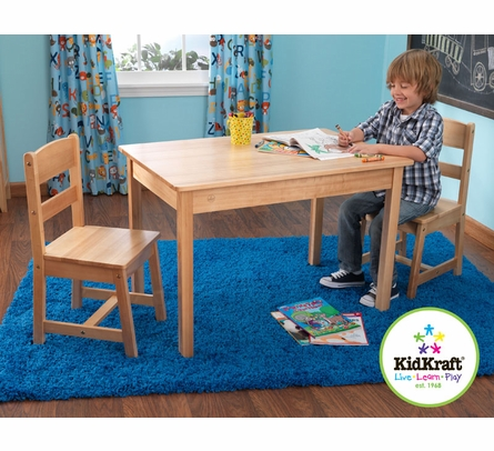 Rectangle Table & 2-Chair Set - Natural