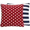 Red and Blue USA Large Throw Pillow