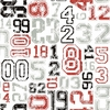 Red and Gray Varsity Number Wallpaper