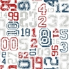 Red and Navy Varsity Number Wallpaper