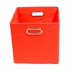 Red Canvas Storage Bin