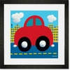 Red Car Framed Art Print
