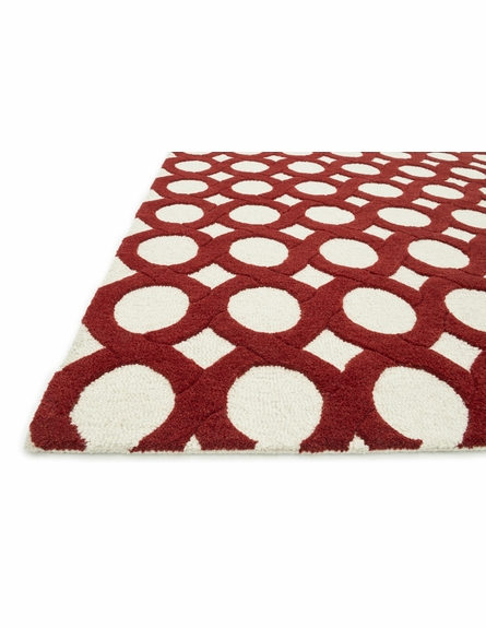 Red Circles Weston Rug