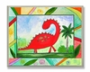 Red Dinosaur Wall Plaque