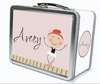 Red Hair Ballerina Personalized Lunch Box
