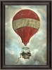 Red Hot Air Balloon Framed Wall Art